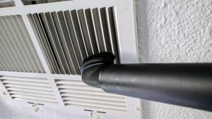 Use the brush attachment to vacuum vent registers too.